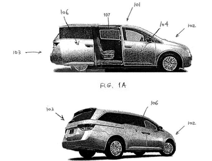 Rivian申请新专利:小型货车的双导轨滑动门