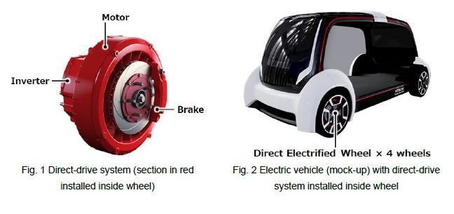 日立宣布开发全新紧凑型电动汽车的轮毂驱动