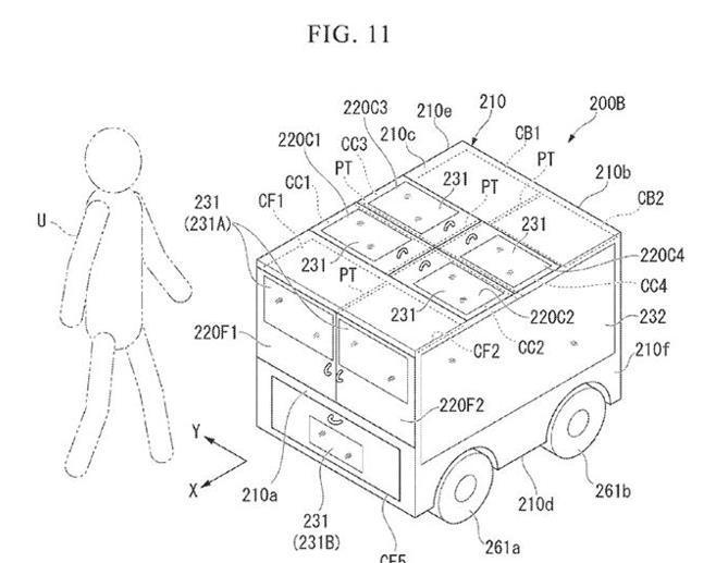 本田申请自动驾驶送货车专利 可递送包裹