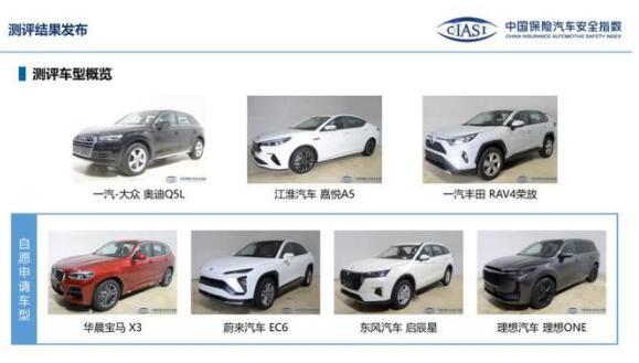 中保研公布7款车型碰撞测试结果 快来瞧瞧你的爱车安全性能如何?