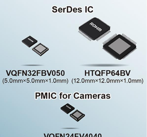 罗姆推出全新SerDes IC和电源管理IC 适用于ADAS系统