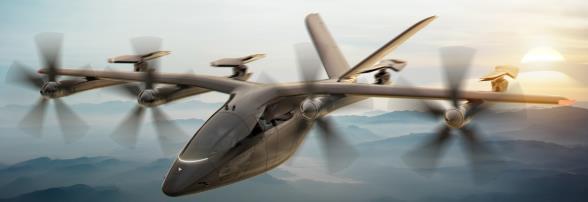 新型空中出租车声称拥有世界上最轻的电动动力系统